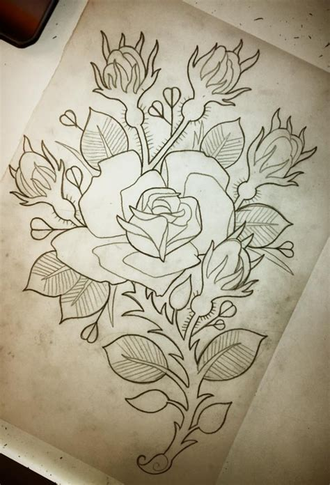 no outline rose tattoo 1000 ideas about outline on tattoos