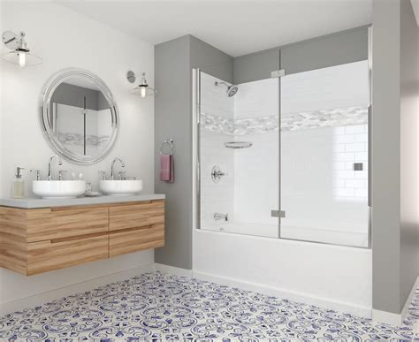 home depot bathroom tile ideas create customize your bath delta upstile semi customizable shower collection the home depot