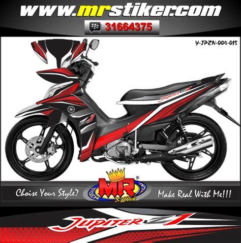 Stiker Scorpio Z 20092010 Merah Hitam jupiter z new original striping stiker motor striping motor suka suka decal motor mr stiker