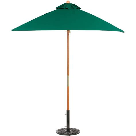 6 Ft Umbrella For Patio Oxford Garden 6 Ft Square Wood Patio Market Umbrella Green Ultimate Patio