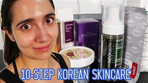 step korean skincare routine   month
