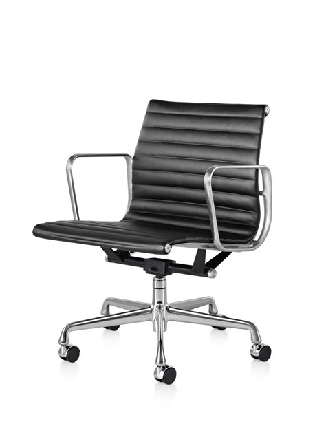 eames management chair used eames aluminum management chair with pneumatic lift