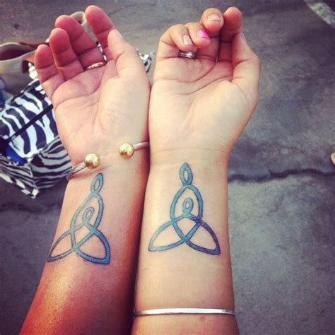 mine and mom s celtic mother daughter knot tattoo what
