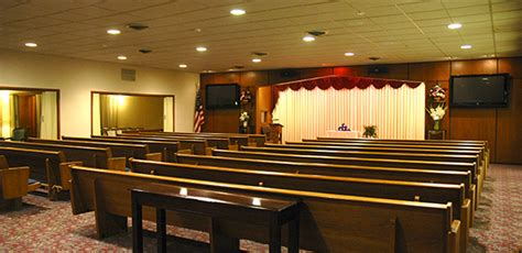 amos family funeral home spacious chapel options