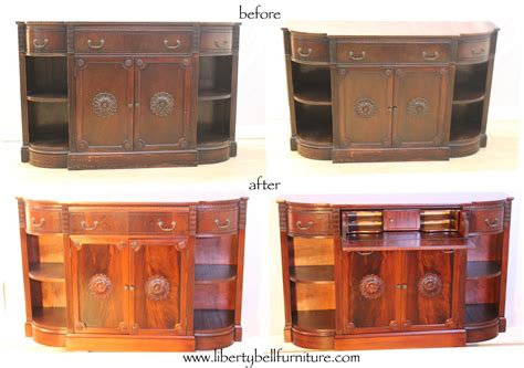 Bell Furniture by Liberty Bell Furniture Repair Upholstery Antique Sideboard With Drop Desk Is Refinished