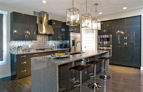 Small Kitchen Backsplash Ideas high gloss simplicity contemporary kitchen edmonton