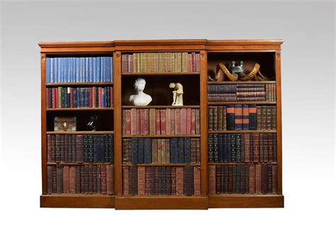 Large Walnut Breakfront Open Bookcase For Sale At 1stdibs Large Bookshelves For Sale