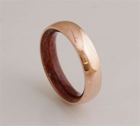 copper wedding band copper wood ring ring