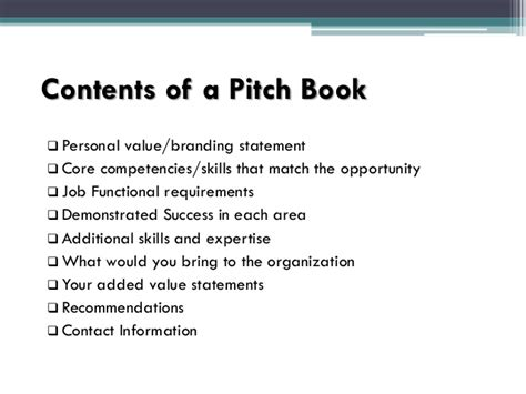 Pitch Book Presentation Pitchbook Template