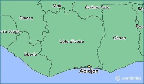 cote d ivoire africa map where is abidjan cote d ivoire where is abidjan cote