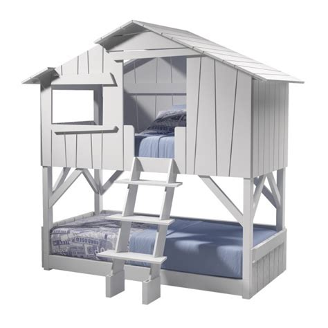 Tree House Bunk Beds Lit Cabane Superposee Mdf Sapin Mathy By Bols