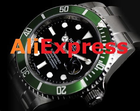 aliexpress watches rolex unboxing aliexpress rolex submariner green youtube