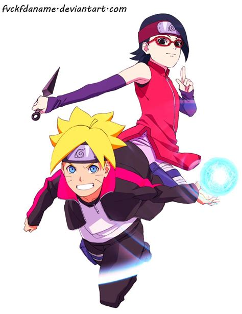 N Anime Boruto by Boruto And Sarada By Fvckfdaname On Deviantart Flower