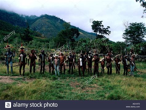 Ethnology And Tourism In Indonesia geography travel indonesia tribe with war paint stock photo royalty free