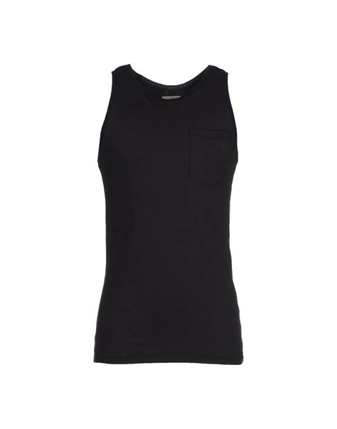 Kaos Tshirt Hurley White 02 1 suit tank top in black lyst