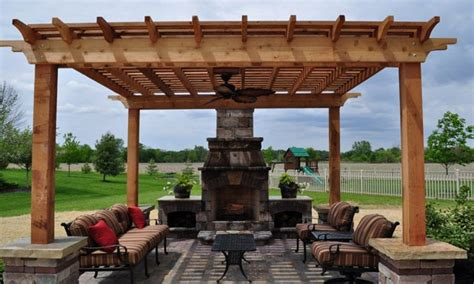 pergola with fireplace outdoor fireplace kits lowes pergola designs with