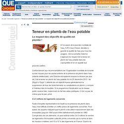 Plomb Dans L Eau Du Robinet by Eau Pearltrees