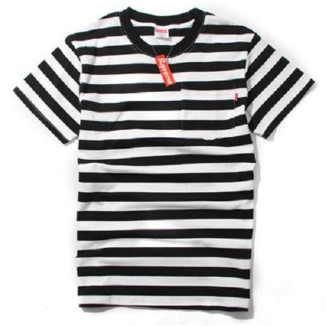 Tshirt Supreme Ione Clothing supreme stripe t shirt black white