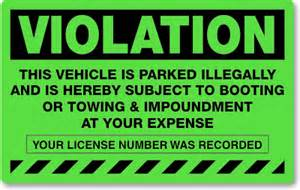 parking violation amp towing stickers stop free loaders