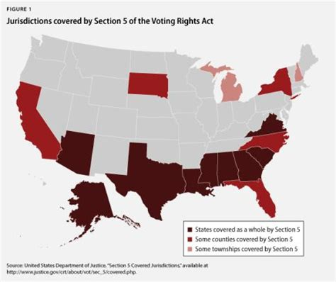 section 5 of voting rights act voting rights act altered in controversial supreme court