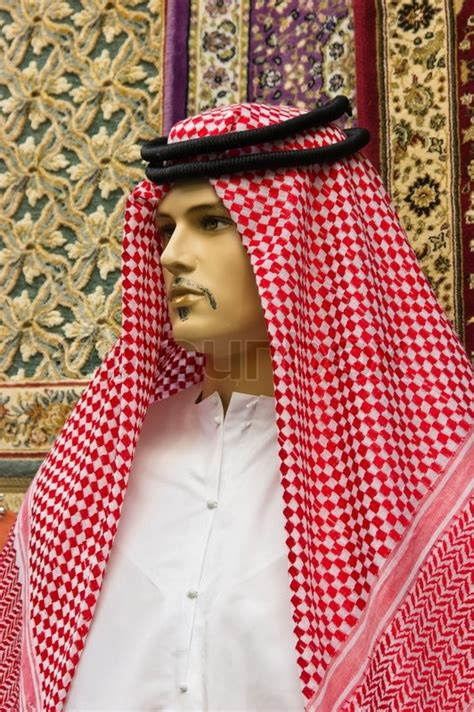 traditional arabic s clothing on a mannequin stock