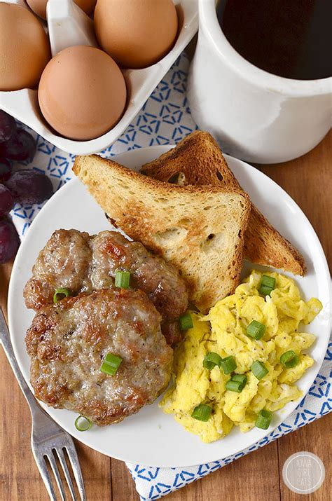 Handmade Breakfast - simple breakfast sausage iowa eats