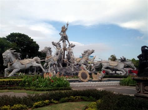 mahabharata statue  denpasar bali photo
