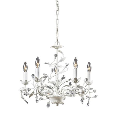 Ceiling Mounted Chandelier Titan Lighting 5 Light Ceiling Mount Antique White Chandelier The Home Depot Canada
