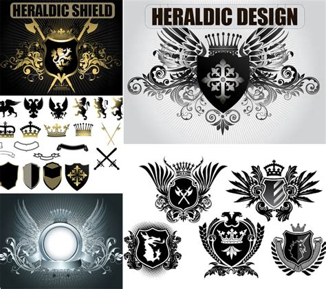 heraldic design elements vector heraldic design elements vector vector graphics blog