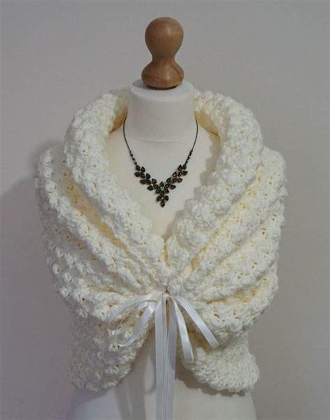braut bolero ivory romantic wedding bolero crochet shrug ivory bridal