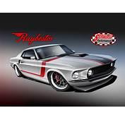 Raybestos Unveils Rendering Of 1969 Mustang Fastback