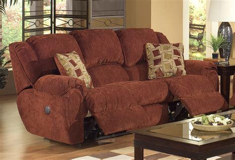 Chenille Reclining Sofa by Conrad Manual Reclining Sofa In Chianti Color Chenille