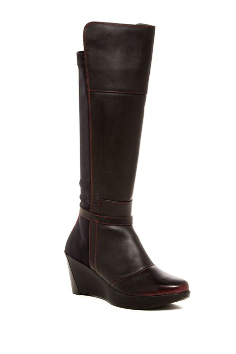 naot knee high boot nordstrom rack