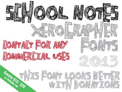 xerographer dafont school notes font dafont com