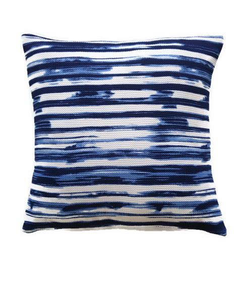 navy and white pillow cover striped blue and white cushion