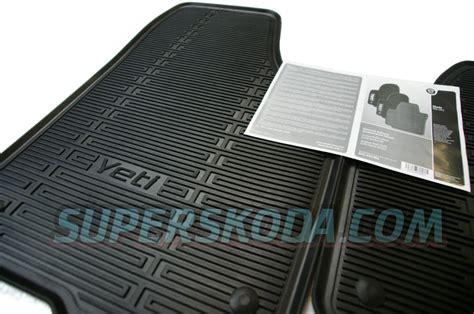 Skoda Floor Mats by Yeti Heavy Duty Rubber Floor Mats Original Skoda Auto A