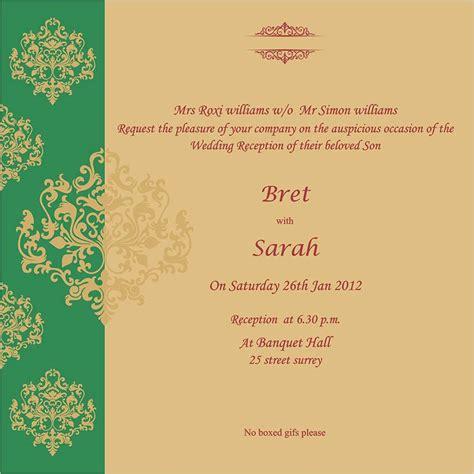 Wedding Card Us by Indian Wedding Cards Us 1634