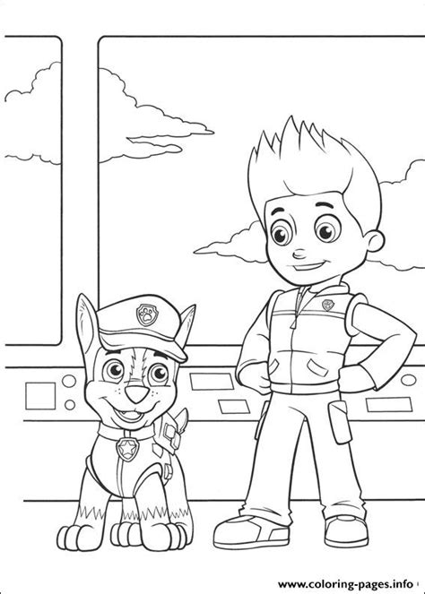 paw patrol chase and ryder coloring pages printable