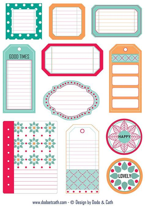 printable tags scrapbooking 17 best images about journal notes and labels on pinterest