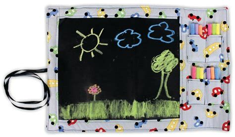 doodlebugz crayola chalkboard placemat chalk fabric travel chalkboard by crafts direct click