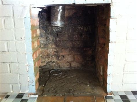 tidy up fireplace after back boiler removal bricklaying