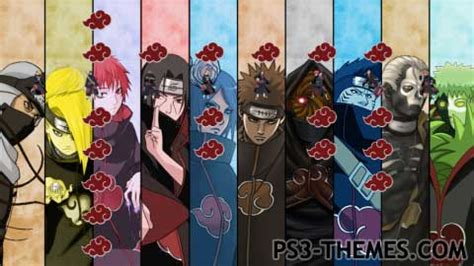themes ps3 naruto shippuden ps3 themes 187 search results for quot akatsuki quot