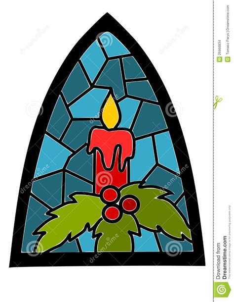 How To Decorate A Bow Window candle on blue stained glass window stock images image