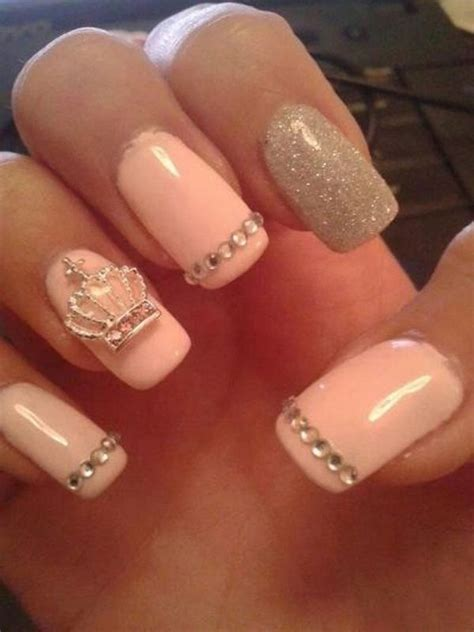cute nail designs with a crown cute nails 101 acrylics manicures and too cute