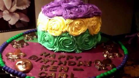 How To Make Mardi Gras Decorations Mardi Gras Birthday Cake Rosettes Jak Dekorowac Tort