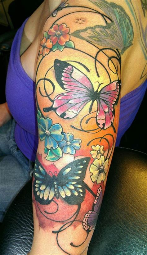 new school tattoo raleigh custom butterflies tattoo picture