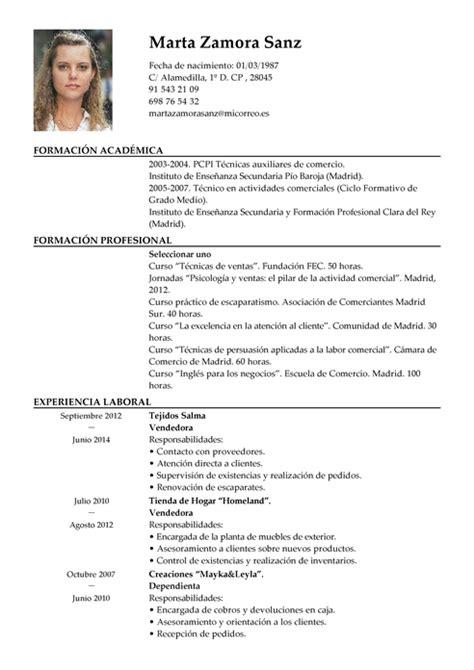 Plantilla Curriculum Vitae Para Tienda De Ropa Modelo De Curr 237 Culum V 237 Tae Vendedor Vendedor Cv Plantilla Livecareer