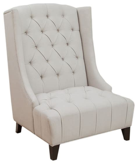 Wing Back Accent Chair by Winger Wingback Accent Chair Transitional Armchairs