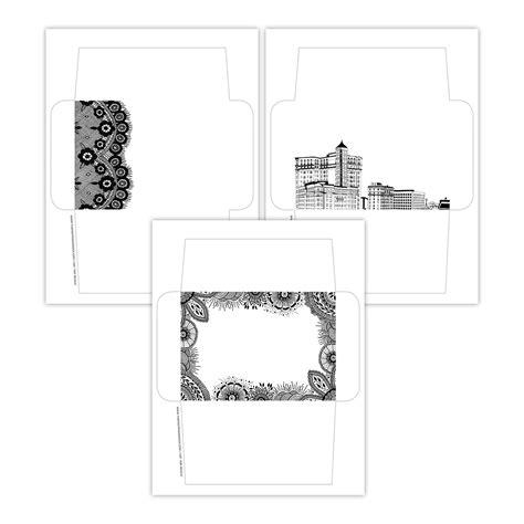 ink printable envelope templates  postmans knock