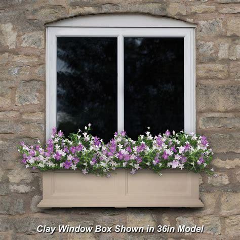 clay window box mayne fairfield 11 in x 48 in clay polyethylene window